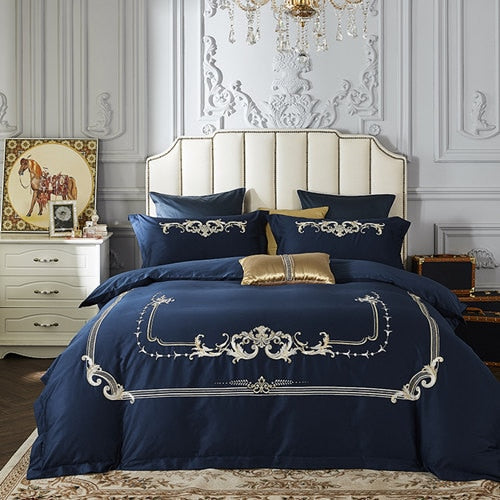 Nandeena Oriental Embroidery Egyptian cotton  Luxury Duvet Cover Set
