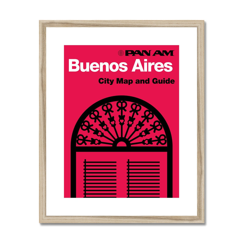 Pan Am® Buenos Aires Framed & Mounted Print