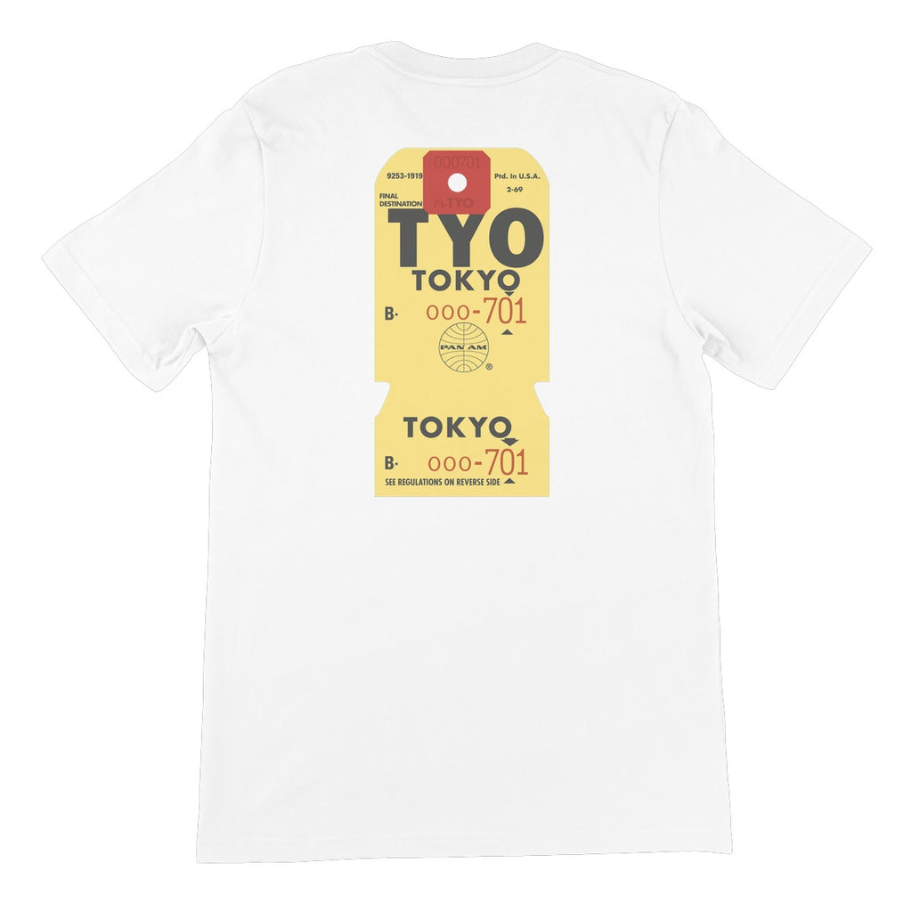 Pan Am® Tokyo Luggage Tag Unisex Short Sleeve T-Shirt