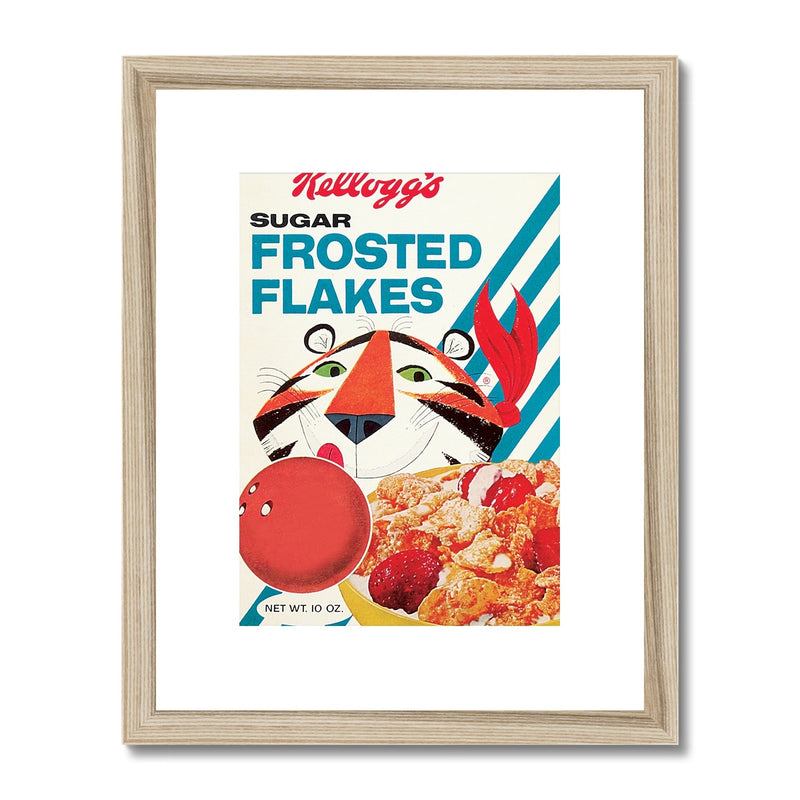 Kellogg's™ Frosted Flakes Retro Box Framed & Mounted Print