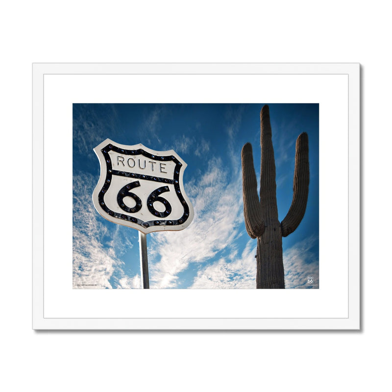 ROUTE 66® Sign Framed & Mounted Print