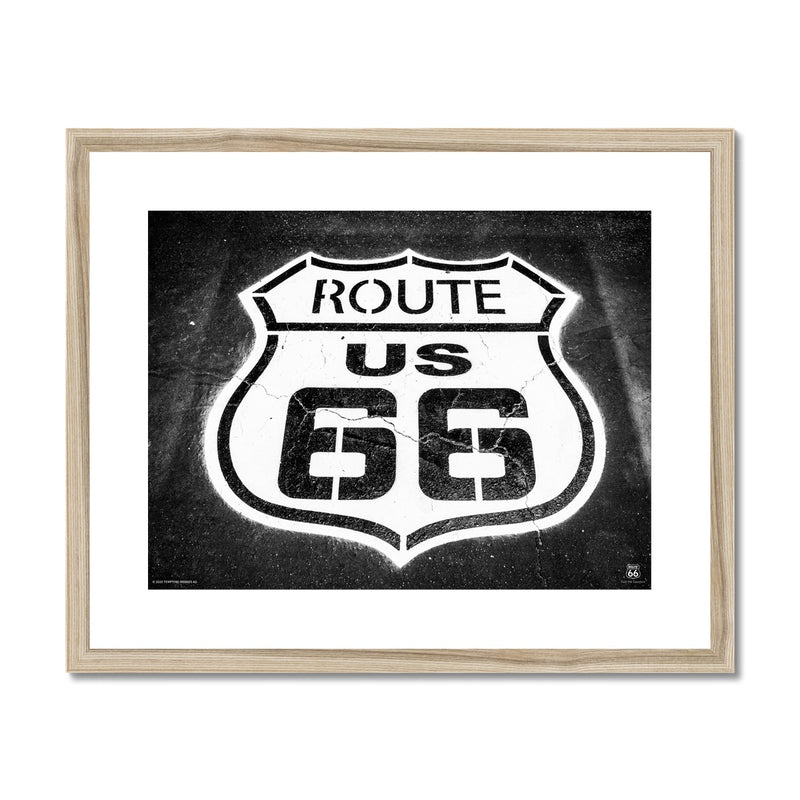 ROUTE 66® US 66 Framed & Mounted Print