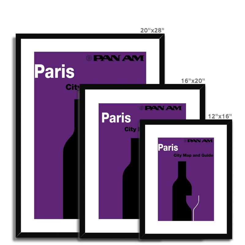Pan Am® Paris Framed & Mounted Print