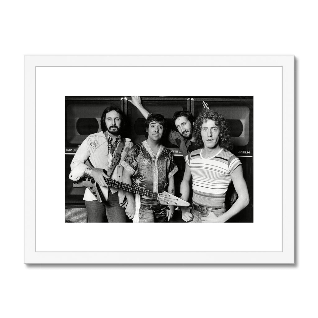 The Who Framed & Mounted Print