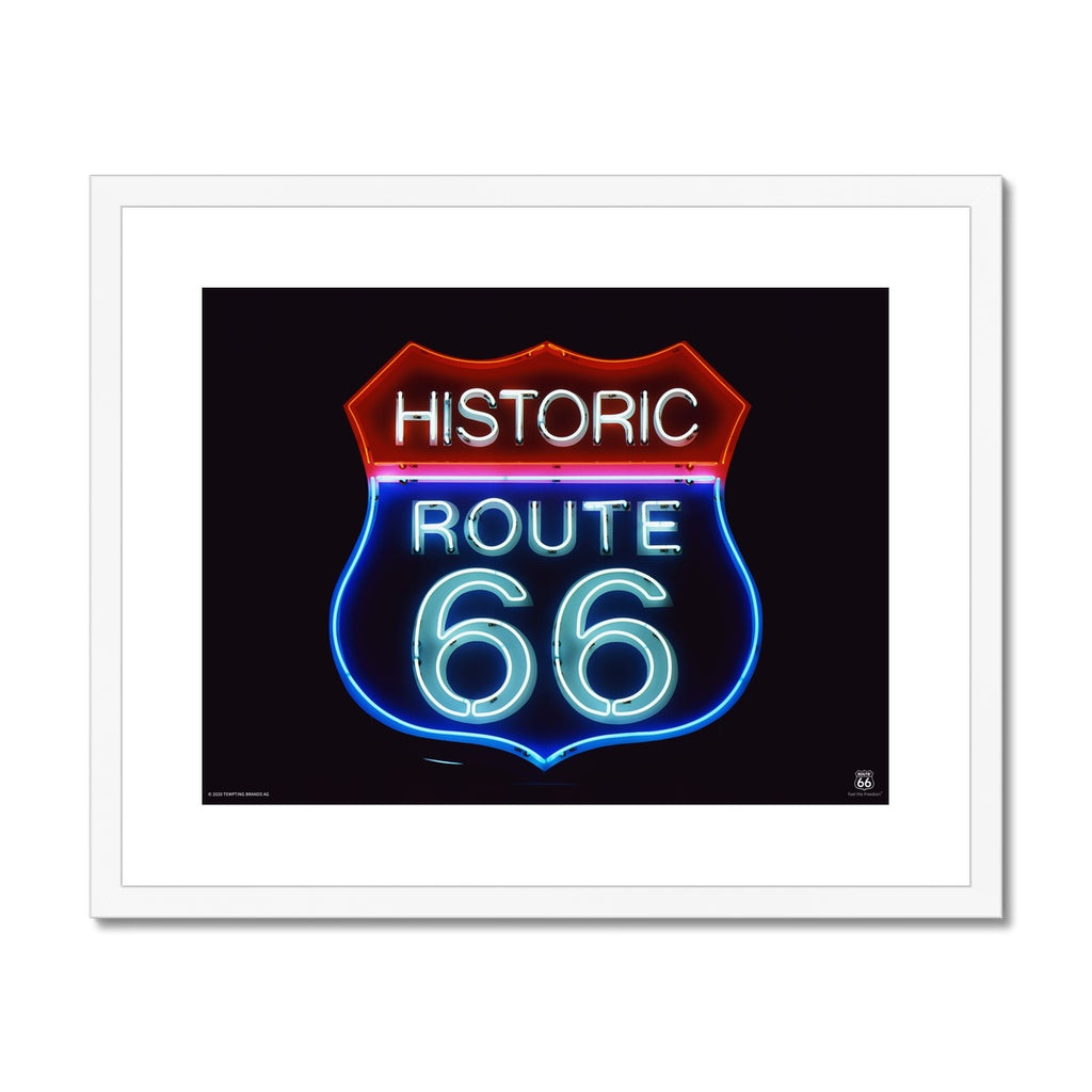 ROUTE 66® Historic 66 Framed & Mounted Print