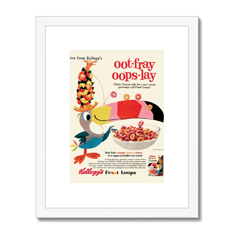 Kellogg's™ Fruit Loops Retro Box Framed & Mounted Print