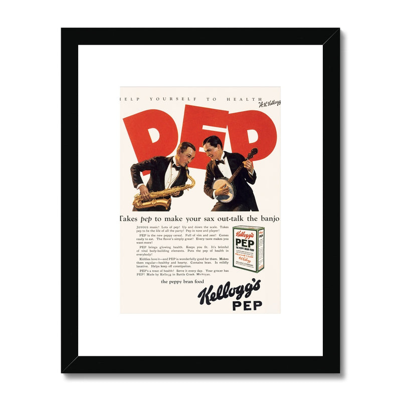 Kellogg's™ Pep Jazz Retro Box Framed & Mounted Print