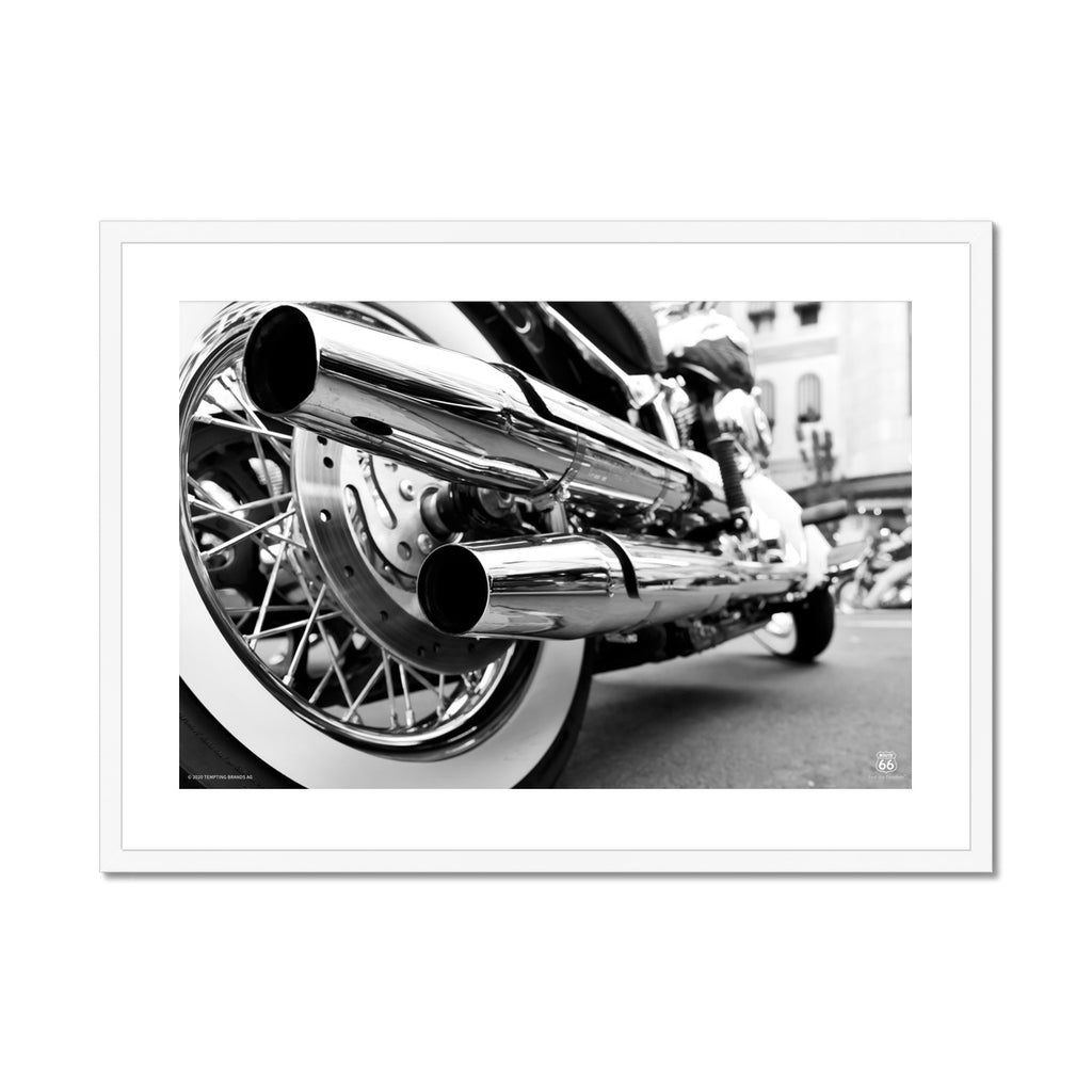 ROUTE 66® Motorbike Framed & Mounted Print