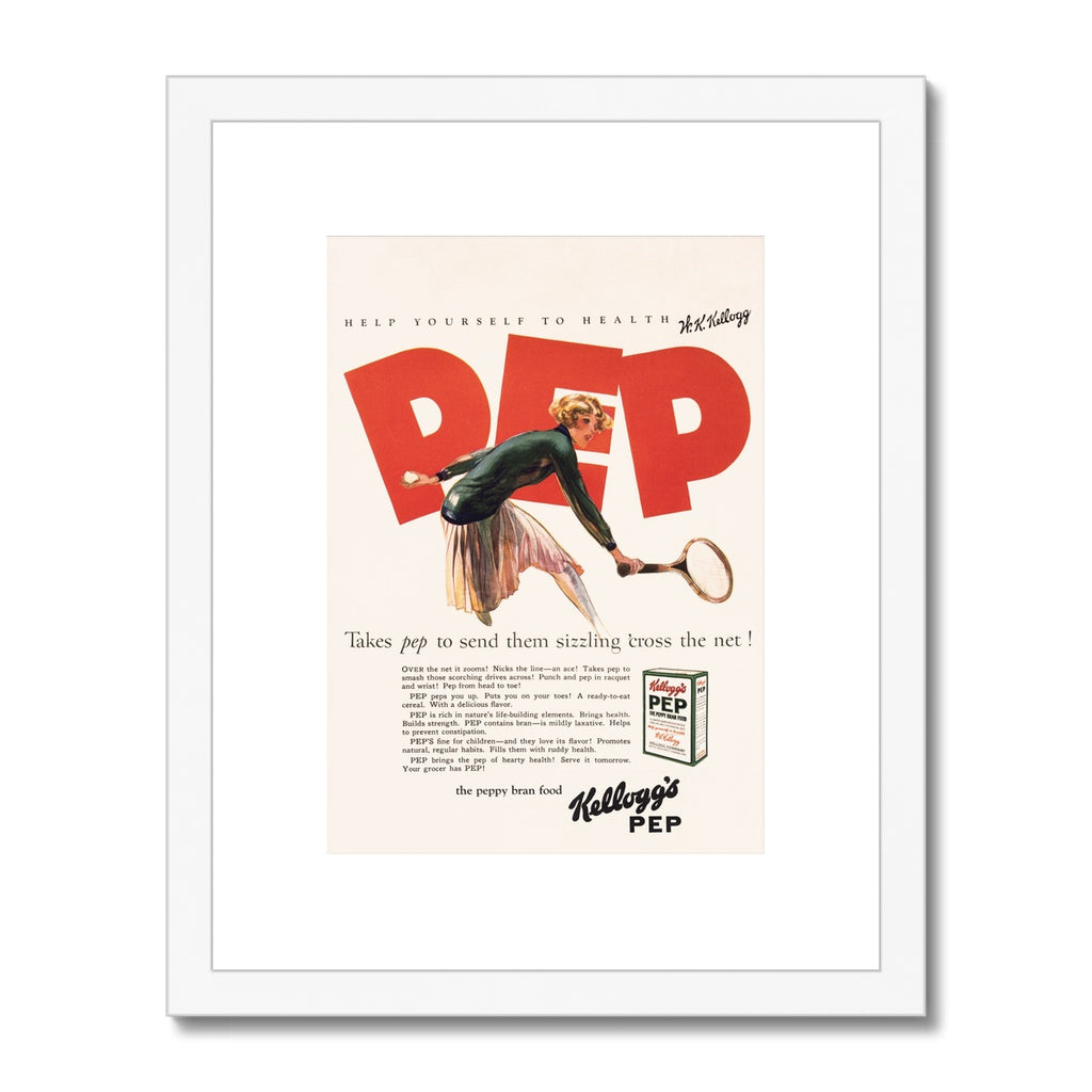 Kellogg's™ Pep Tennis Retro Box Framed & Mounted Print