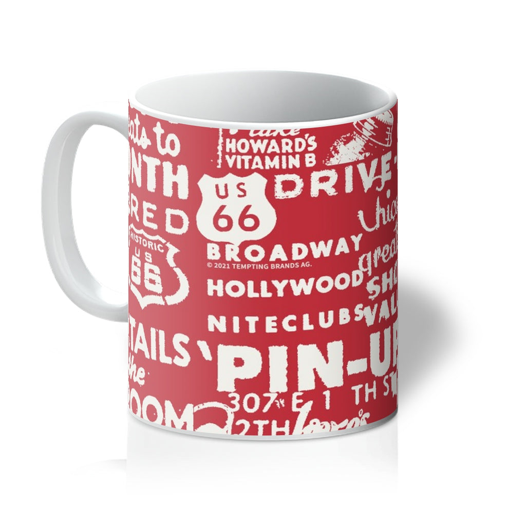 ROUTE 66® Signs Pattern Mug