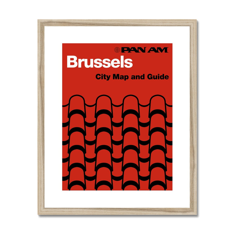 Pan Am® Brussels Framed & Mounted Print