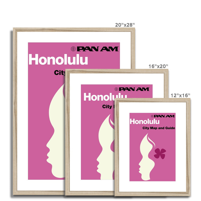 Pan Am® Honolulu Framed & Mounted Print