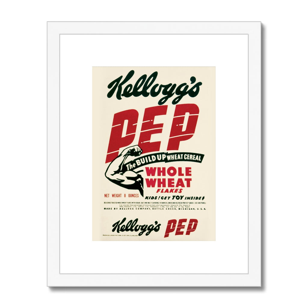 Kellogg's™ Pep Retro Box Framed & Mounted Print