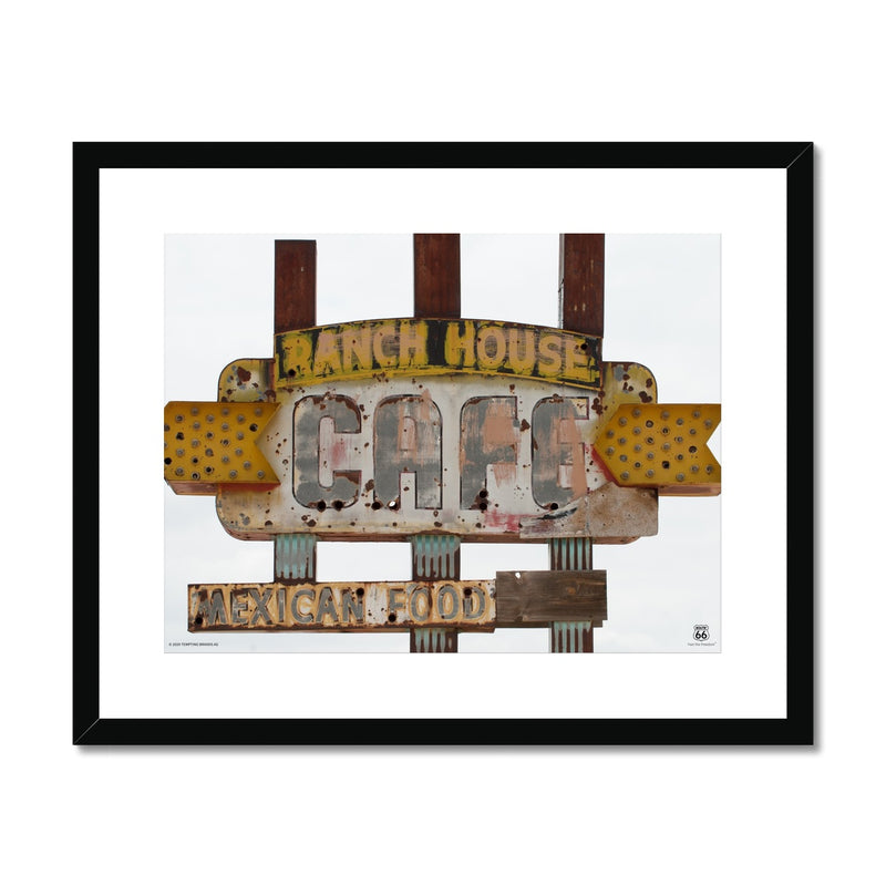 ROUTE 66® Ranch House Cafe Framed & Mounted Print