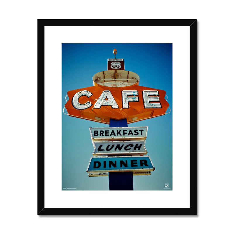 ROUTE 66 Cafe Framed & Mounted Print