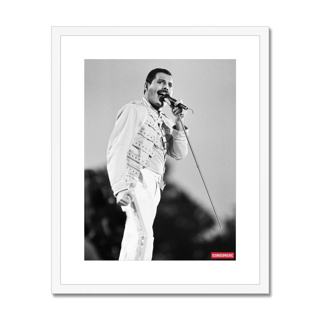 Iconospheric Queen At Knebworth Pop Festival Framed & Mounted Print