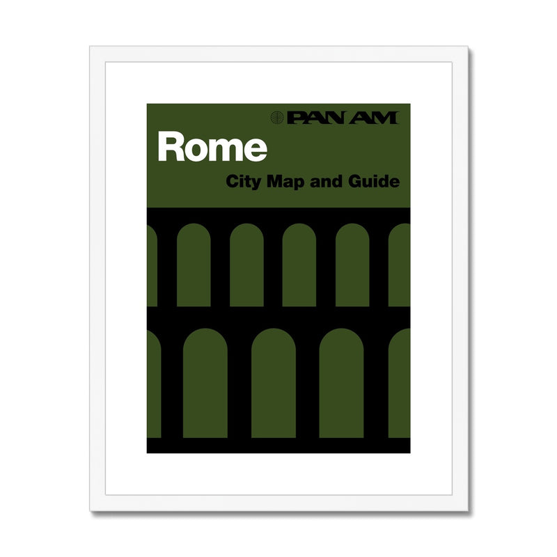 Pan Am® Rome Framed & Mounted Print