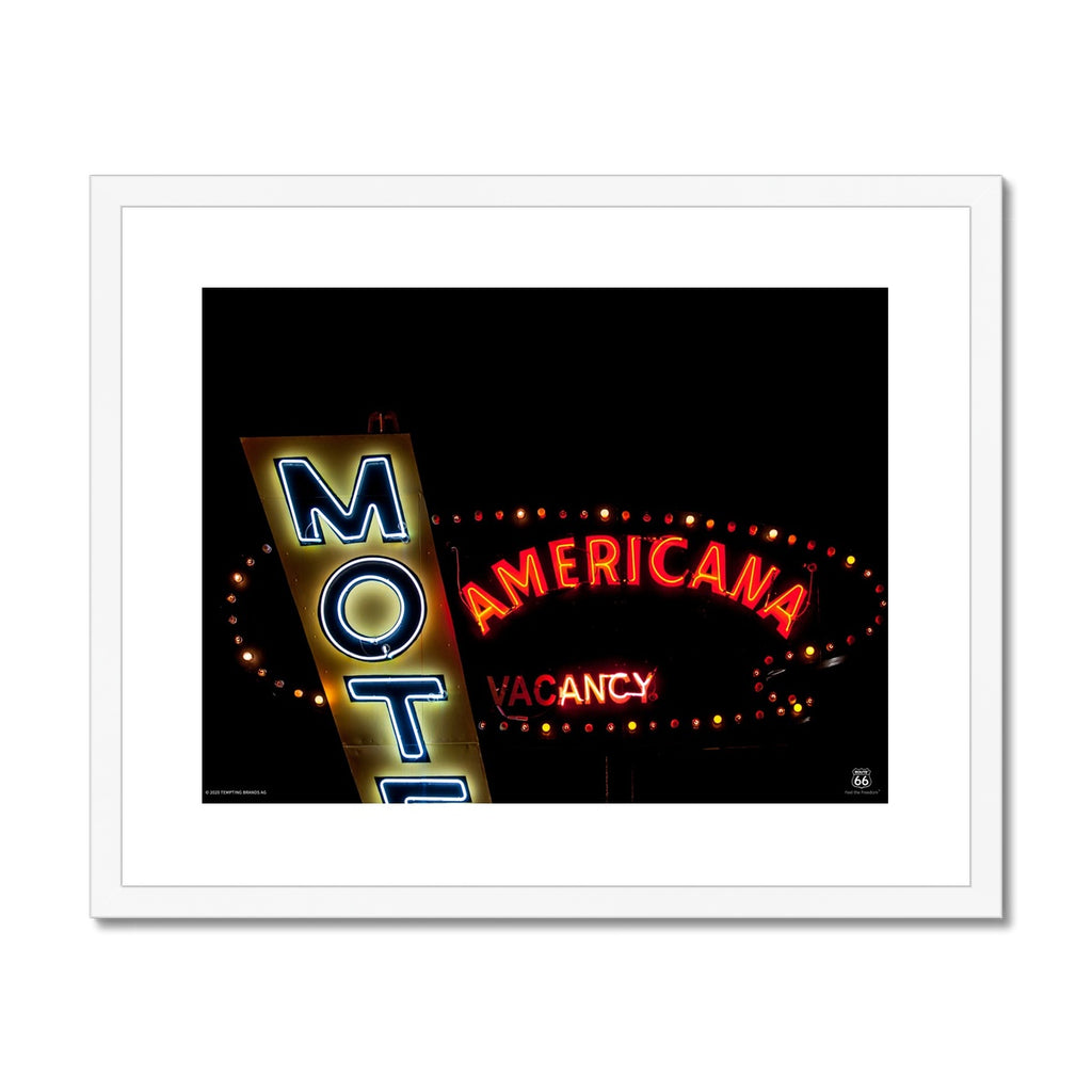 ROUTE 66® Motel Americana Framed & Mounted Print