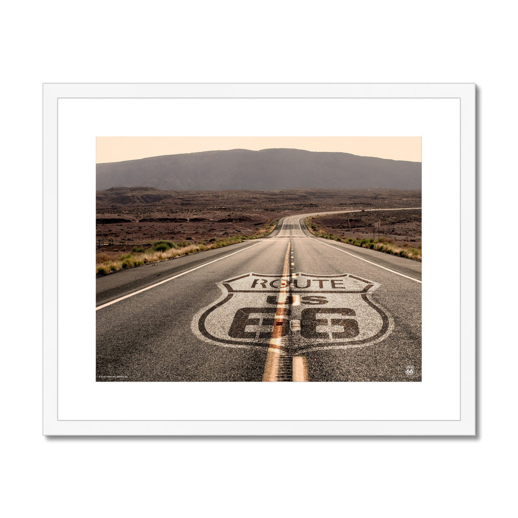 ROUTE 66® Open Road Framed & Mounted Print