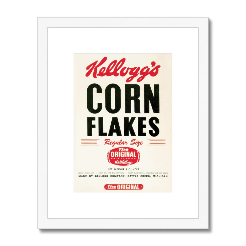 Kellogg's™ The Original Corn Flakes Retro Box Framed & Mounted Print