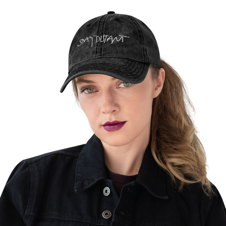STAY DISTANT - Vintage Cotton Twill Cap