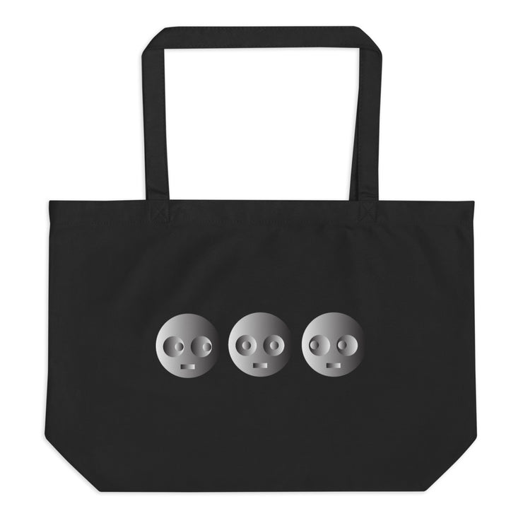 3 EMOJI - Large organic tote bag