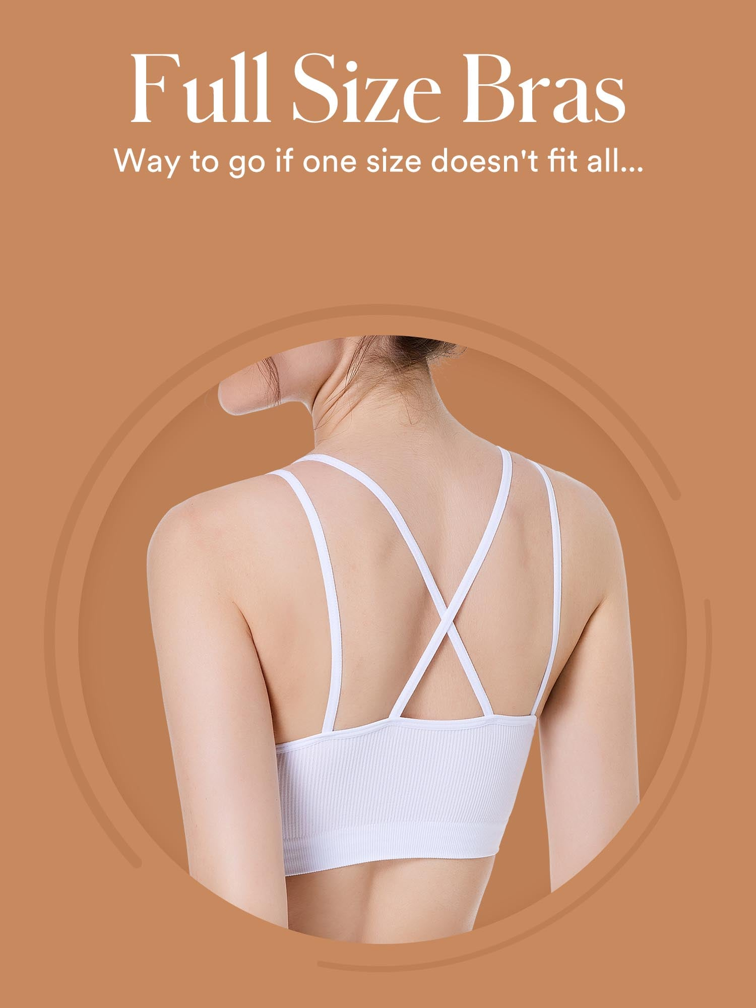 Coobie® Award-Winning Signature Seamless Bras in Full Size. This is the alternative for  one size bras, designed for larger size women. With the Ultra-Soft Fabric, Wire-Free Design and Cutting-Edge Knitting Technologies, our bras are Ultra Stretchy, Comfort & Fit. Perfect for All-Day activities.