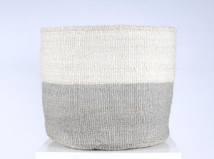 The Basket Room XL Grey Woven Storage Basket