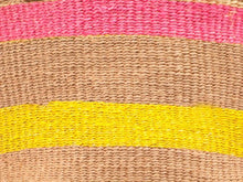 Load image into Gallery viewer, The Basket Room Pink and Yellow Stripe Shopper Bag