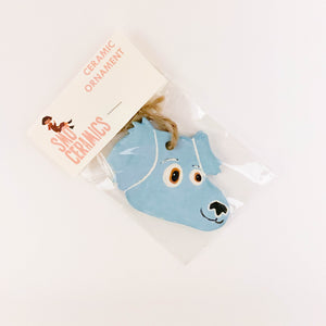 Blue Frankie Dog Ornament