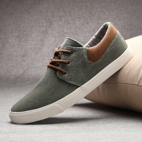 Vintage New Spring Breathable Mens Casual Shoes Retro All-round Recreational Men's Canvas Shoes Sneakers