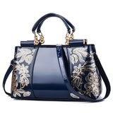 YK-Leik Embroidery Women Bag Leather Purses
