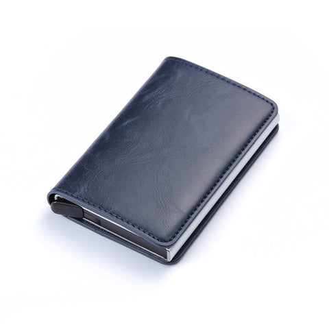 BISI GORO Business ID Credit Card Holder Men Metal RFID Vintage Aluminum Box