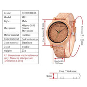 BOBO BIRD Lovers Watches Wooden Timepieces Handmade Cork Strap Bamboo Women Watch Luxury in Box Custom Logo Drop Shipping