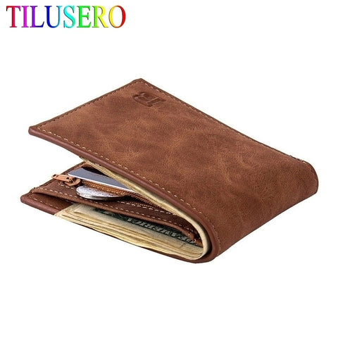 Leather Men's Wallet Slim Money Wallet