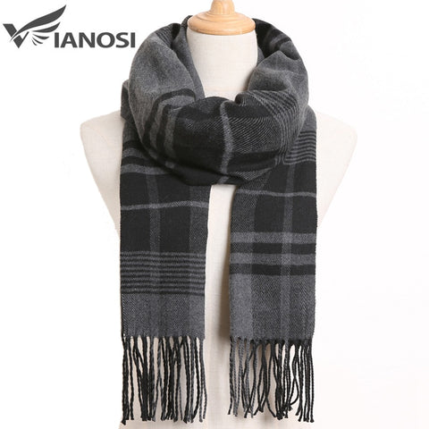 [VIANOSI] 2020 Luxury Design Men Scarf Foulard Plaid Scarves Poncho Casual Winter Scarfs Male Bufandas Hombre