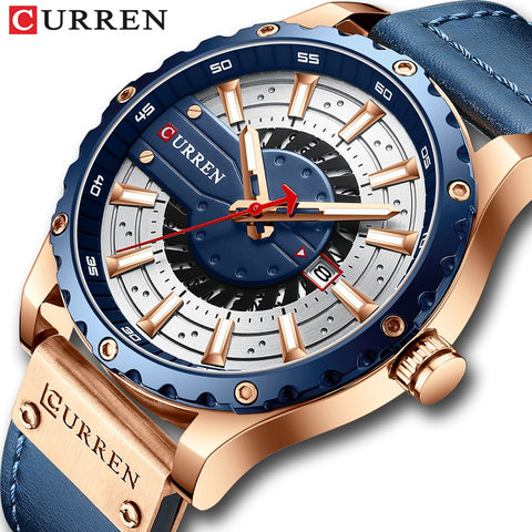 CURREN Fashion Mens Watches Waterproof Top Brand Luxury Calendar Male Watch men Leather Sport Military Wristwatch Dropship
