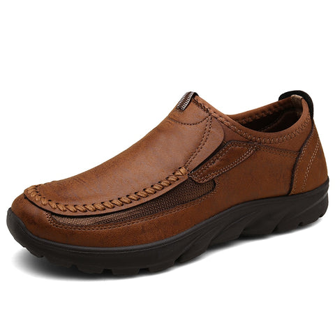 Men's Casual Shoes Fashion Men's Dress Shoes Brand Breathable Slip On Loafers Shoe Plus Size 6.5~12.5