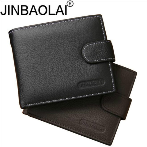 Leather Wallet Men Clip Cowhide Wallet Men