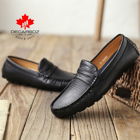 Loafers Shoes Men Fashion Shoes Men 2021 Autumn Comfy Slip-on Men's Flats Moccasins Male Footwear Brand Leather Men Casual Shoes