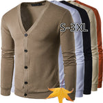 ZOGAA New Brand Sweater Men V-Neck Solid Slim Fit Knitting Mens Sweaters Cardigan Male Autumn Winter Fashion Casual Coats