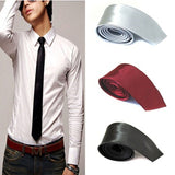 5 Colors New Arrivals Casual Slim Plain Mens Solid Skinny Neck