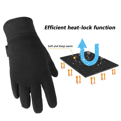 Outdoor winter cycling running fleece gloves warm light heat sports all men's gloves
