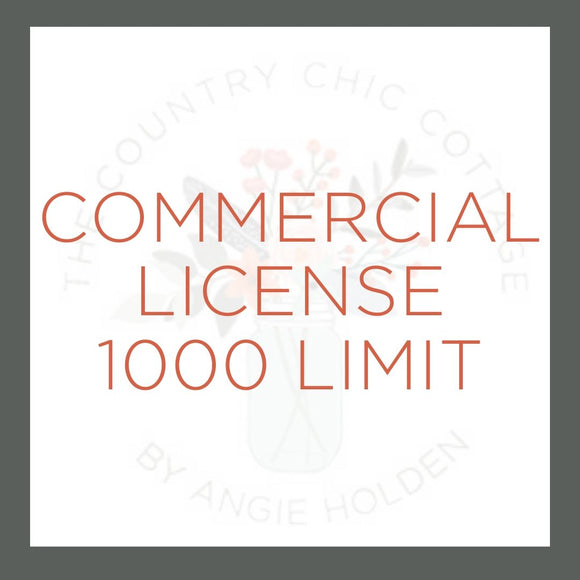 Digital Cut File Commercial License 1000 Limit
