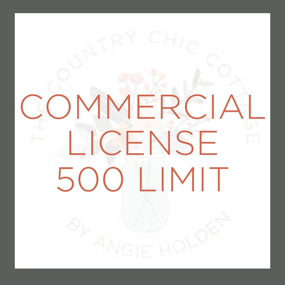 Digital Cut File Commercial License 500 Limit