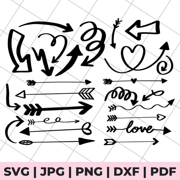 svg file with various arrows