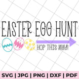 easter egg hunt svg file