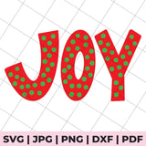 joy polka dot svg file