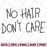 no hair don't care svg file