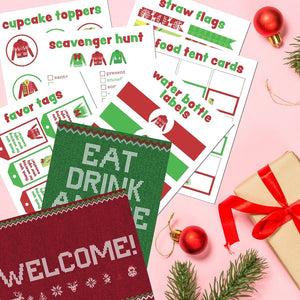 Ugly Sweater Party Printables Pack